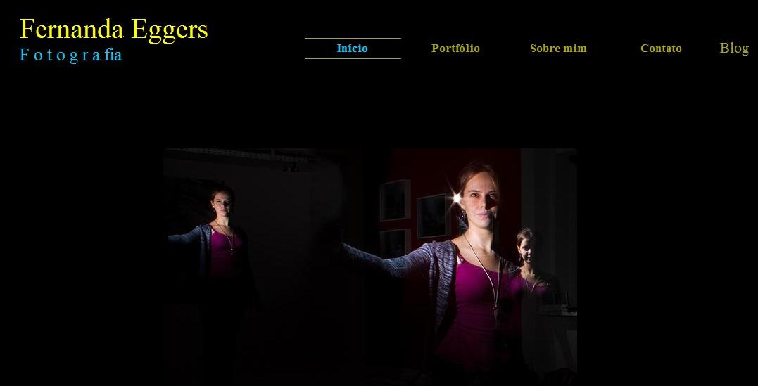 Página inicial do meu site/portfólio